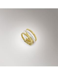 Marco Bicego Masai anello oro giallo e bianco AG326-B