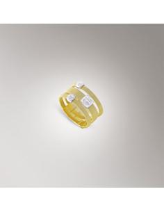 Marco Bicego Masai anello oro giallo e bianco AG326-B1