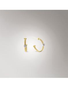 Marco Bicego Masai orecchini oro giallo e bianco OG345-B