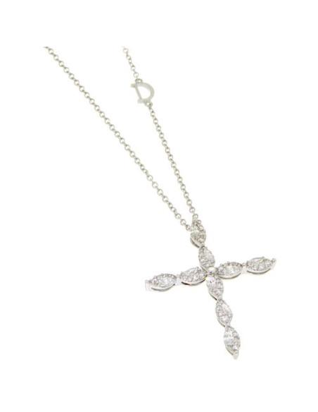 DAMIANI EMOZIONI collana croce in oro e diamanti - 20069285