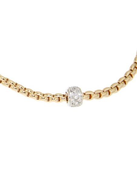 Fope Collana Flex'It Eka Tiny in oro Rosa e diamanti ref 730C-PAVE