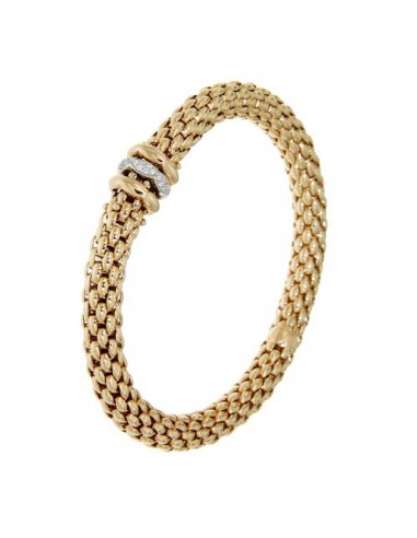 Fope Bracciale Flex'It Love Nest in oro Rosa e diamanti ref 451B-BBR