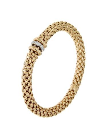 Fope Bracciale Flex'It Love Nest in oro Rosa e diamanti ref 451B-BBR