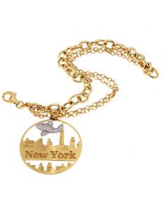 Misis City Hall Bracciale New York argento placato oro BR07332