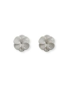 Misis Flora Earrings Silver, cubic Zirconia OR09830RH