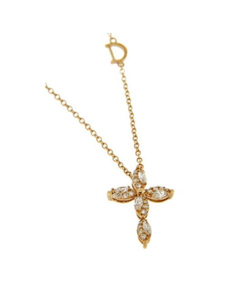 DAMIANI EMOZIONI collana croce in oro e diamanti - 20069284