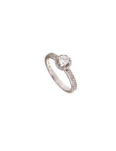 DAMIANI MINOU ring in white...