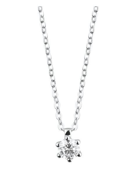DAMIANI ELETTRA collana in oro bianco e diamanti 0.10 ct