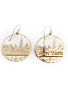 Misis City Hall Orecchino New York argento placato oro OR08448