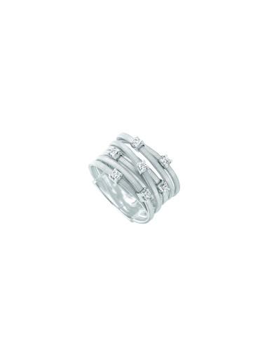 Marco Bicego Goa Anello oro bianco e diamanti ref: AG277-B