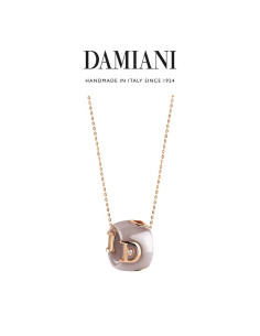 Damiani DIcon Collana in ceramica Cappuccino e oro rosa con diamante (ct 0,01) Ref. 20068423