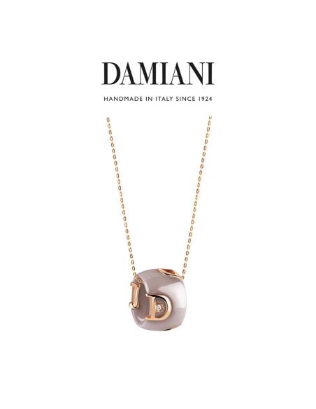 Damiani DIcon Collana in ceramica Cappuccino e oro rosa con diamante (ct 0,01) Ref. 20068423