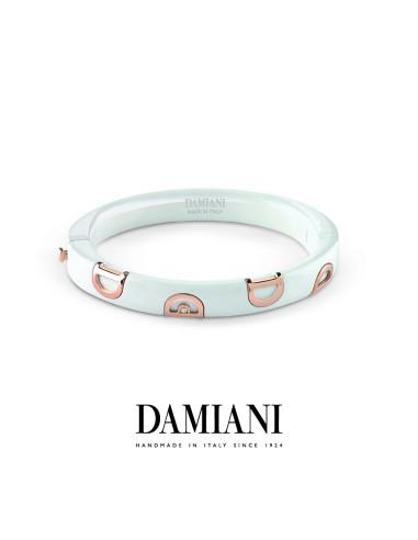 Damiani DIcon Bracciale in ceramica bianca e oro rosa con diamante (ct 0,01) Ref. 20068293