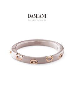Damiani DIcon Bracciale in ceramica Cappuccino e oro rosa con diamanti (ct 0,01) Ref. 20062743