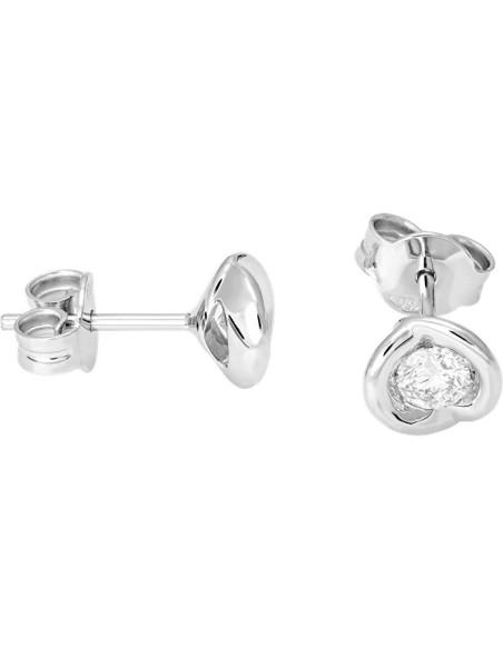 Diamond Invest collezione Calla orecchino in oro bianco e diamante ct. 0.27
