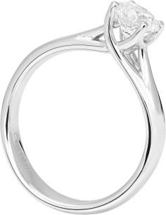 Diamond Invest collezione Grace anello oro bianco e diamante ct. 0.33