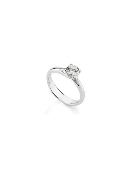 Diamond Invest collezione Grace anello oro bianco e diamante ct. 0.50