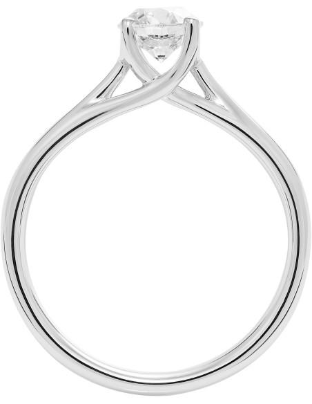 Diamond Invest collezione Grace anello oro bianco e diamante ct. 0.80