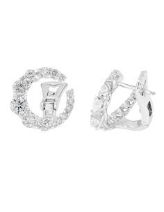 Diamond Invest collezione Grace orecchino in oro bianco e diamante ct. 2.53