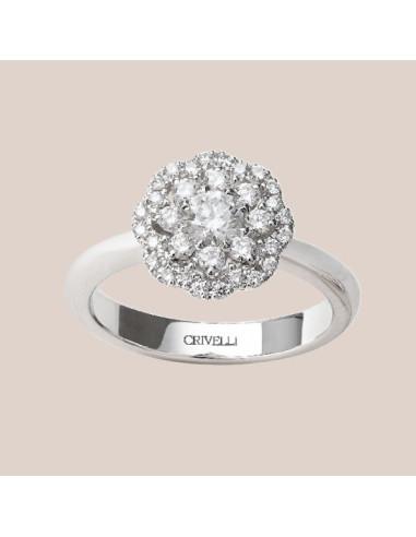 Crivelli Collezione Sposa Anello in oro e diamanti 000-3894NS