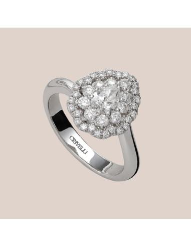 Crivelli Collezione Sposa Anello in oro e diamanti 000-4008NS