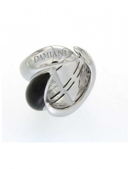 Damiani Gomitolo.925 ANELLO IN ARGENTO SMALTO NERO E DIAMANTE Ref. 20056194