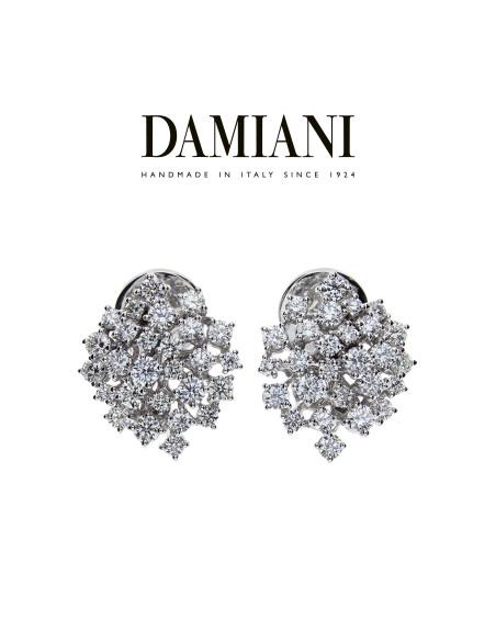DAMIANI MIMOSA orecchini in oro bianco e diamanti ct 2.12 GH