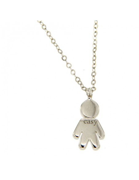 Easy COLLANA IN ORO BIANCO CON DIAMANTI (ct 0,12) ref: 289-VE1873
