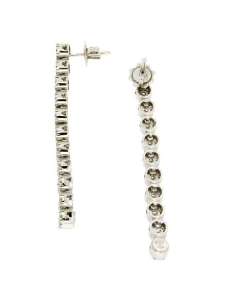 DAMIANI CRISTAL orecchini in oro bianco e diamanti ct 1.54 H IF
