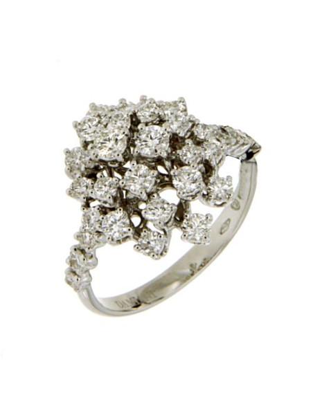 DAMIANI MIMOSA anello in oro bianco diamanti