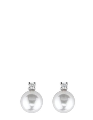 DAMIANI LE PERLE orecchini in oro bianco con diamanti e perle 7.50 - 8.00 ref: 20011412