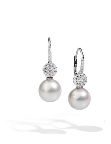 UTOPIA MY SONG orecchini in oro bianco con diamanti e perla 10.60 ref: ICO1BB12