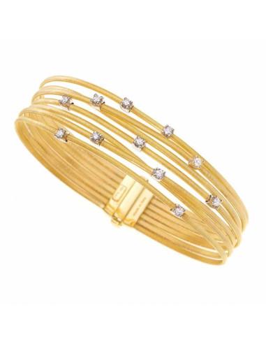 Marco Bicego Goa Bracciale oro giallo e Diamanti 7 fili ref: BG686-B