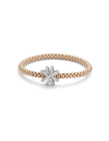 Fope Bracciale Flex'It SOLO VENEZIA in oro Rosa e diamanti ref 668B-PAVE