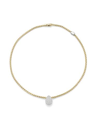 Fope Collana Flex'It Eka Tiny in oro Giallo e diamanti ref 733C-PAVE