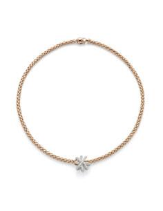 Fope Collana SOLO VENEZIA in oro Rosa e diamanti ref 668C-PAVE
