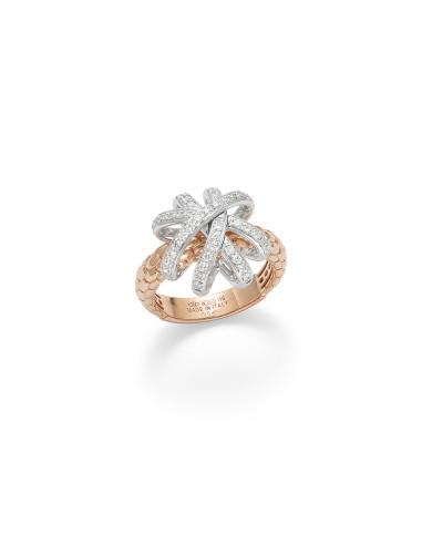 Fope Anello SOLO VENEZIA in oro Rosa e diamanti ref AN668-PAVE