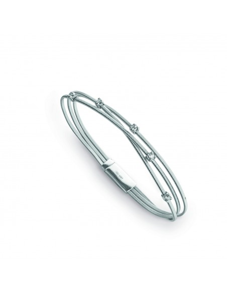 Marco Bicego Goa Bracciale oro bianco e diamanti ref: BG617-B