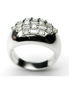 DAMIANI BAMBOO anello in oro bianco e diamanti 1.12 ct