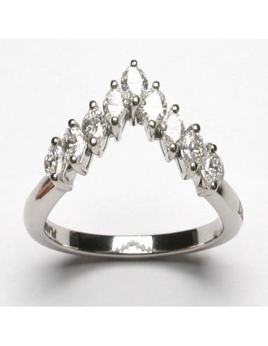 DAMIANI FORME DELLA FEMMINILITA' anello in platino e diamanti 0.90 ct