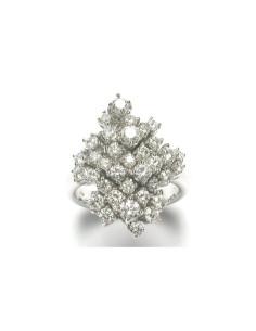 DAMIANI CHAMPAGNE anello in oro bianco e diamanti 1.48 ct