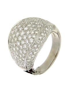 DAMIANI CLASSIC anello in oro bianco e diamanti 2.28 ct