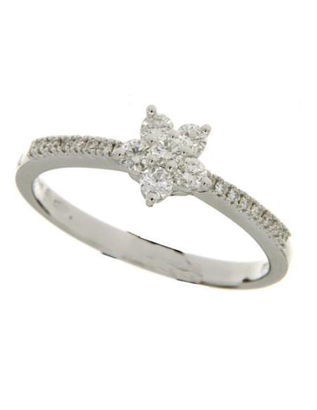 DAMIANI STELLA anello in oro bianco e diamanti 0.31 ct