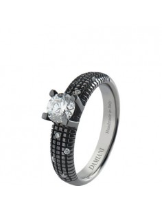 Damiani Metropolitan Dream ANELLO IN ORO BLACK CON DIAMANTE 0.30 ct