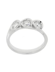 Diamond Invest collezione Calla Trilogy anello oro bianco e diamante ct. 0.55