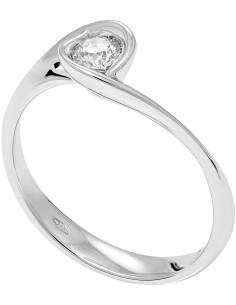 Diamond Invest collezione Calla anello oro bianco e diamante ct. 0.20
