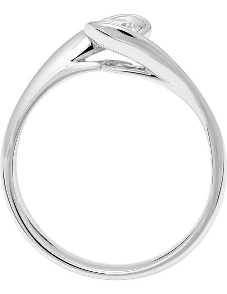 Diamond Invest collezione Calla anello oro bianco e diamante ct. 0.25