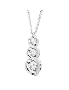 Diamond Invest collezione Calla Trilogy collana oro bianco e diamante ct. 0.26