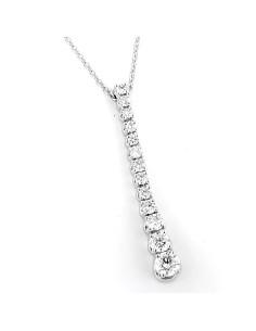 Diamond Invest collezione Grace collana oro bianco e diamante ct. 0.90