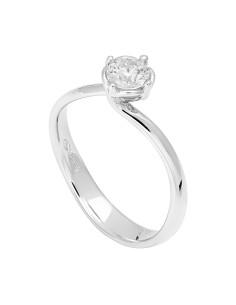 Diamond Invest collezione Rugiada anello oro bianco e diamante ct. 0.50